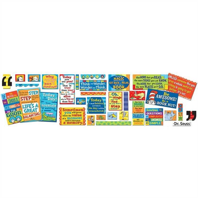 Dr. Suess 35 Quotes Bulletin Board Set