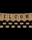 Burlap Pennants Welcome Bulletin Board