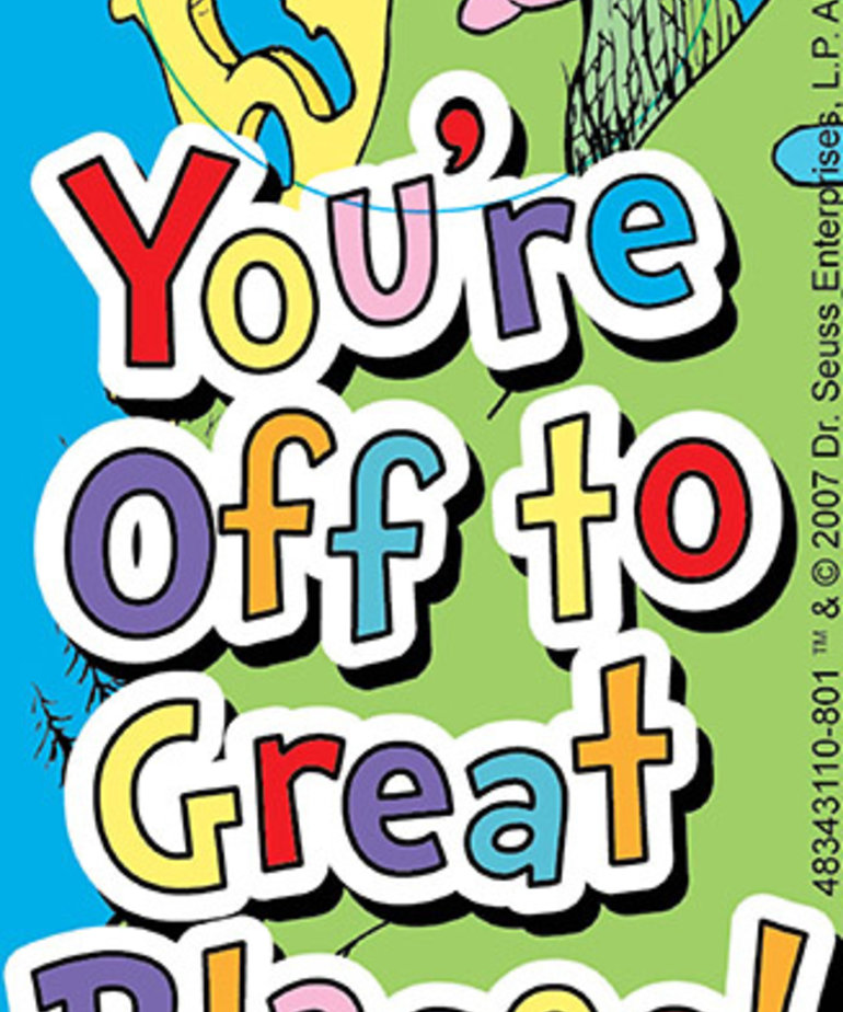 Dr. Suess Dr. Suess You're Off to Great Places Bookmark