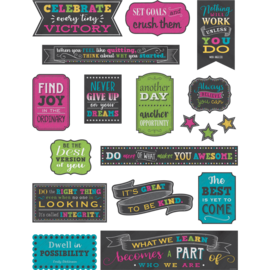 Chalkboard Brights Positive Sayings Mini Bulletin Board