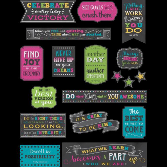 Chalkboard Brights Positive Sayings Mini Bulletin Board