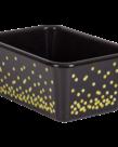 Black Confetti Plastic Book Bin