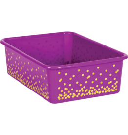 Purple Confetti Large Storage Bin
