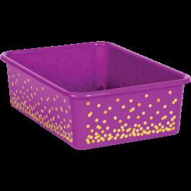 Purple Confetti Large Storage Bin