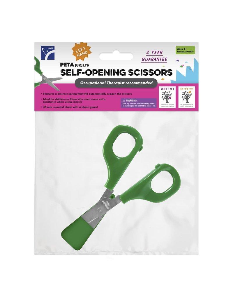 Self-Opening Scissor (Left/Green)