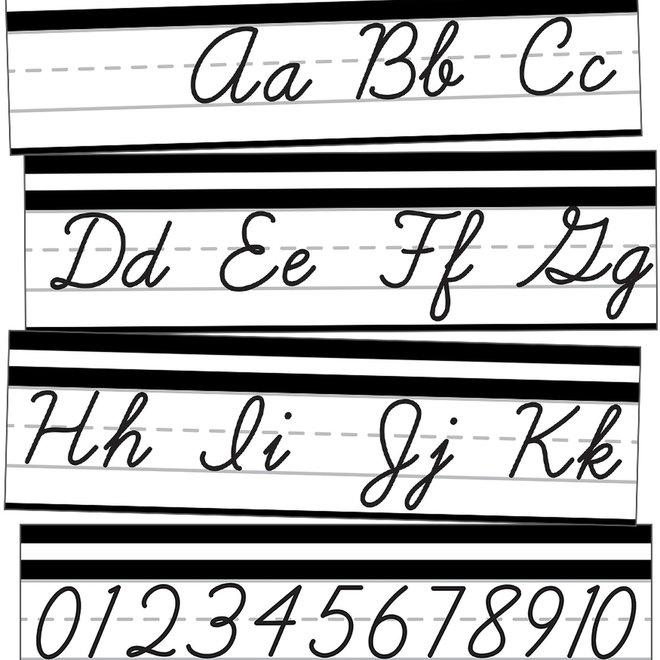 Simply Stylish Cursive Alphabet Line