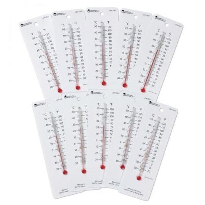 Learning Resources Student Thermometers (set of 10)