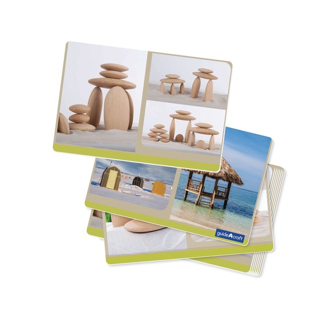 River Stones Wooden Stackers
