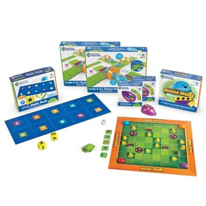 Learning Resources Code & Go Robot Mouse Classroom Set