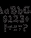 """Black Sassy Solid 5"""" Letter"""
