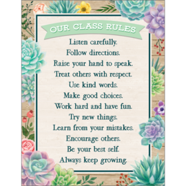 Rustic Bloom Classroom Rules Chart