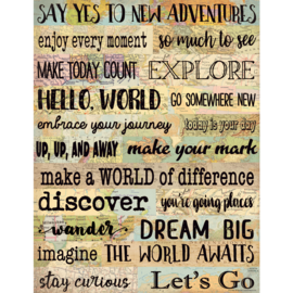 Travel The Map New Adventures Chart