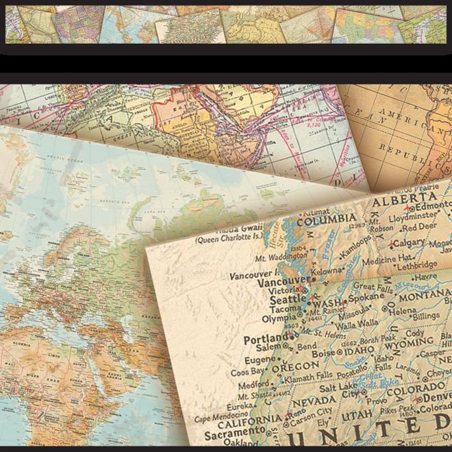 Travel The Map Straight Border