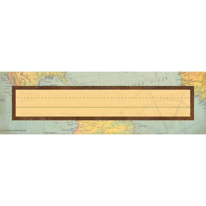 Travel The Map Name Plates