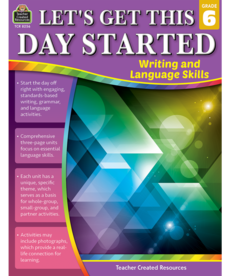 Let's Get This Day Started Writing and Language Gr.6