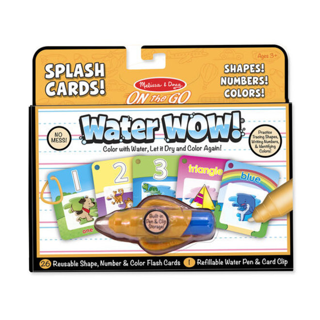 Water Wow! Splash Cards Numbers, Shapes & Colors