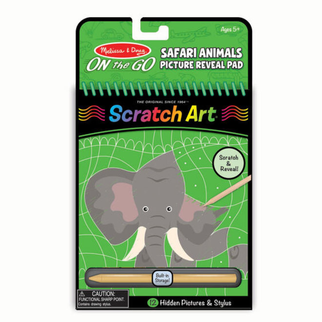 Scratch Art-Safari Animals