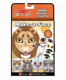Make a Face Safari Reusable Sticker Pad