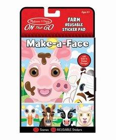 Make-A-Face Farm Reusable Sticker Pad