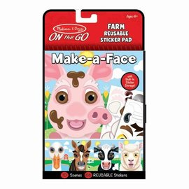 Make-A-Face Farm Reusable Sticker Pad