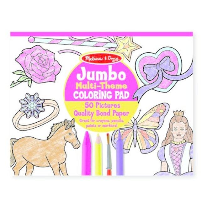Jumbo Coloring Pad (Pink)