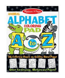 Animal Alphabet Coloring Pad