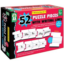 Write On/Wipe Off: 52 Blank Puzzle Pieces with Writing Lines