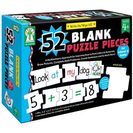 Write On/Wipe Off: 52 Blank Puzzle Pieces