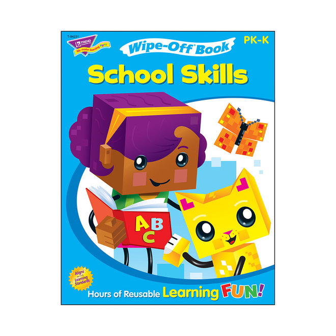 School Skills Wipe-Off Book
