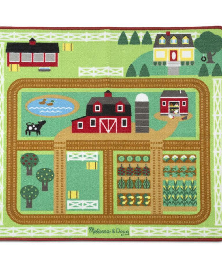 Around the Barnyard Farm Rug