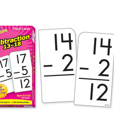 Subtraction 13-18 Flashcards