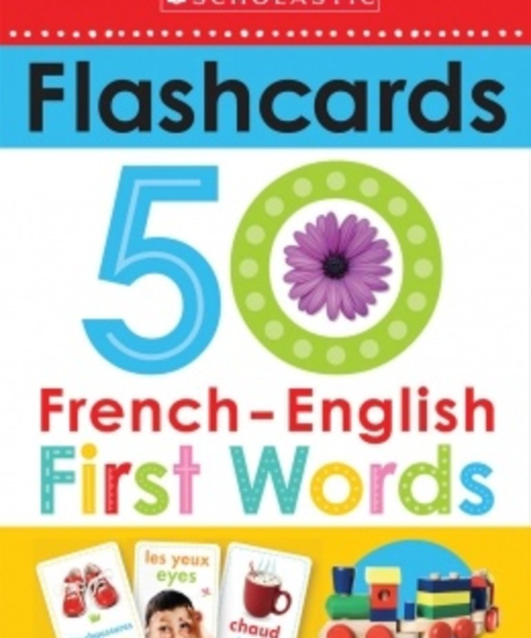 Flashcards- 50 French-English First Words