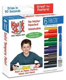 Kwik Stix Temper Paint- Thin 6 Pcs. Primary