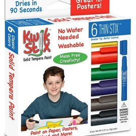Kwik Stix Temper Paint- Thin 6 Pcs. Primary