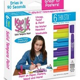 Kwik Stix Tempera Paint-6 Thin Neon Stix