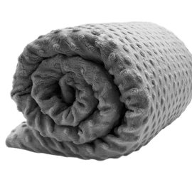 Lotus Weighted Blanket 15lbs - Grey Minky
