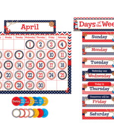 Nautical Calendar Bulletin Board Set