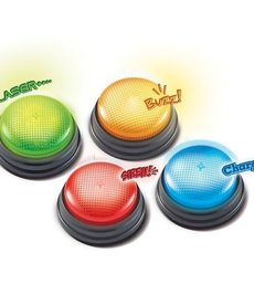 Learning Resources Lights & Sounds Answer Buzzers, Set of 4