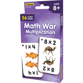 Math War Multiplication Flash Cards