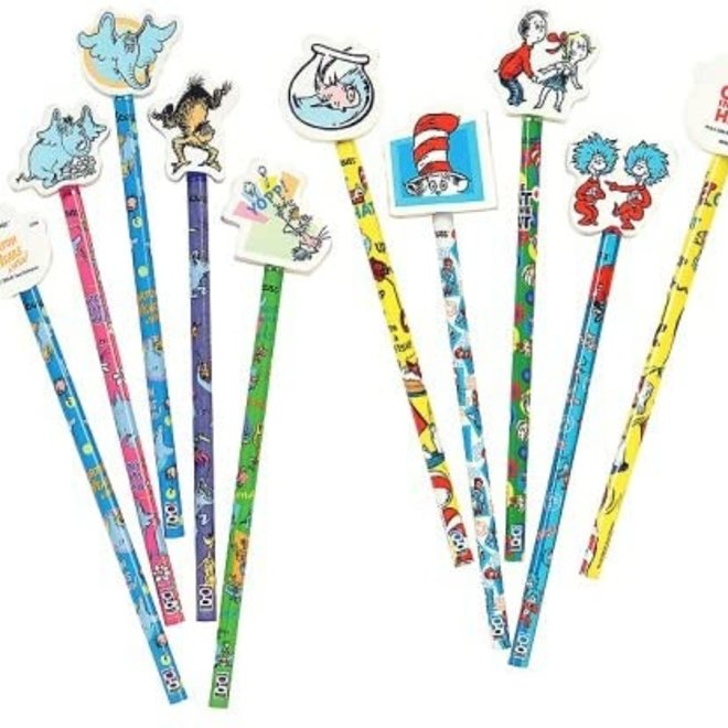 Dr. Suess Pencils with Eraser