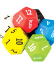 12 Sided Dice 6pk