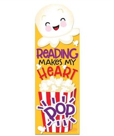 Reading Makes my Heart Pop Scented Bookmark