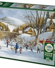Cobble Hill Hockey on Frozen Lake Puzzle  1000pc