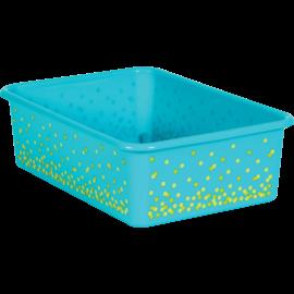 Teal Confetti Large Storage BIn
