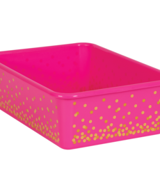 Pink Confetti Large Storage Bin