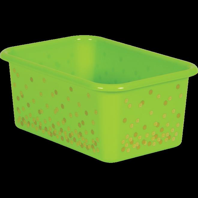Lime Confetti Small Storage Bin