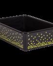 Black Confetti Large Storage Bin