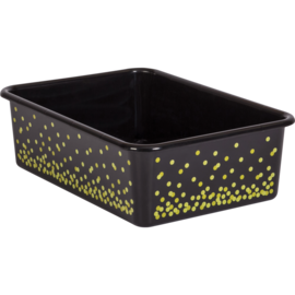 Black Confetti Large Storage Bin
