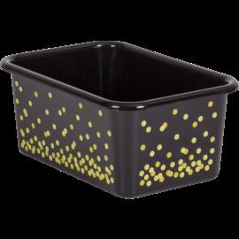 Black Confetti Small Plastic Storage Bin