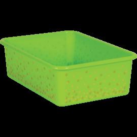 Lime Confetti Large Storage Bin
